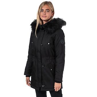 Women's Only Iris Winter Parka Jacket in Black