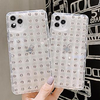 Funda móvil para iPhone 11 con diamantes grandes