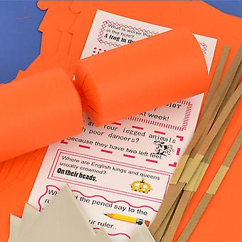 Único Jumbo Orange Make & Fill Your Own DIY Reyclable Christmas Cracker Kit