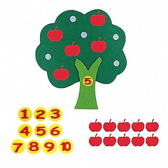 モンテセリアップル木教える数学のおもちゃ - 早期学習教育