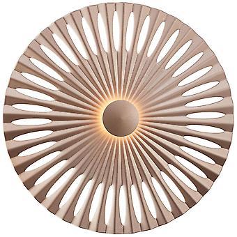 BRILLIANT Lampe Phinx LED væglampe 32cm brun /kaffe   1x 12W LED integreret, (1282lm, 3000K)   Skaler A++ til E   Dekorative