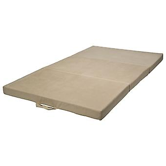 Foldable mattress sleeper mattress 200x120x10 cm off white
