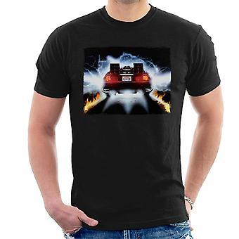 Terug naar de toekomst Delorean opstijgen voor Time Travel Men's T-shirt
