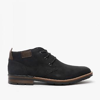 Rieker B1340-01 Mens Wide Fit Ankle Boots Black