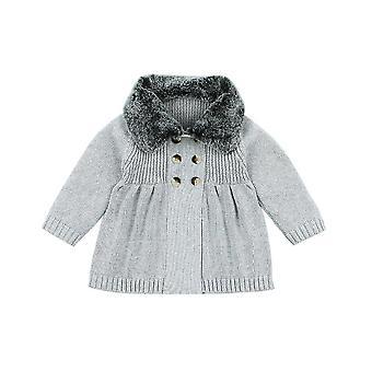 سترة الطفل الشتاء قمم الأطفال طويلة الأكمام معطف سترة الخريف الدافئة الصوف