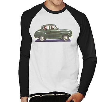 Austin A35 Green British Motor Heritage Men's Baseball Long Sleeved T-Shirt