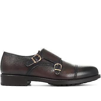 Jones Bootmaker Mens Double Buckle Leather Monk Shoe
