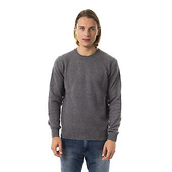 Uominitaliani Cenere Grey Long Sleeve Sweater