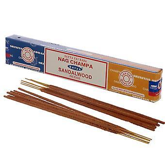 Puckator Satya Nag Champa og Sandeltræ Røgelse Sticks
