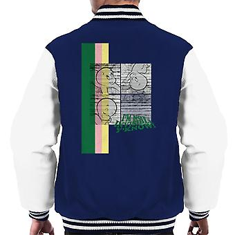 Casper The Friendly Ghost I'm Not Invisible Y'Know Men's Varsity Jacket