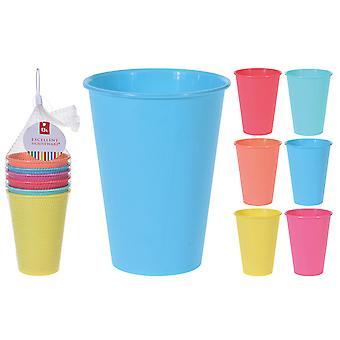 Excellent Housewares Plastic Beaker Set 6 Piece Assorted 179650950