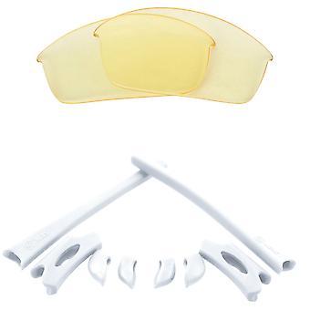 Náhradní čočky a sada pro Oakley Flak Jacket žlutá a bílá anti-scratch anti-oslnění UV400 od SeekOptics