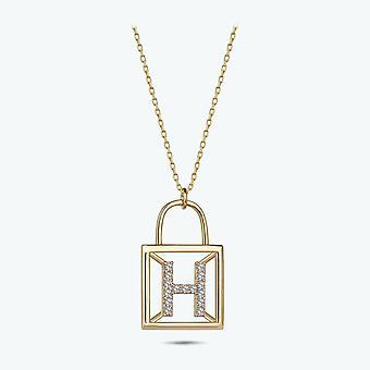 Bokstaven H guld halsband