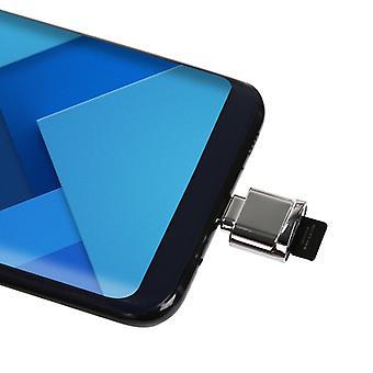 USB-C / Type-C לכרטיס מיקרו SD (כרטיס TF) סגסוגת אבץ קורא מראה מתאם, עבור גלקסי S8 &; S8 + / LG G6 / Huawei P10 && P10 פלוס / שיאומי Mi6 &; מקסימום 2