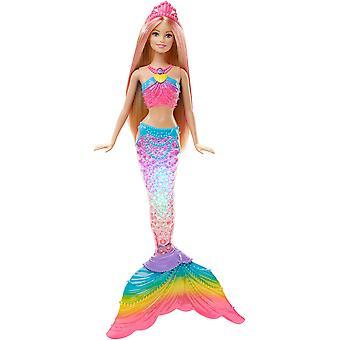 Barbie dhc40 dúha svetla morská panna bábika