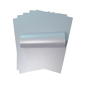 10 Sheets Powder Blue A4 Pearlescent Double Sided Card 300gsm