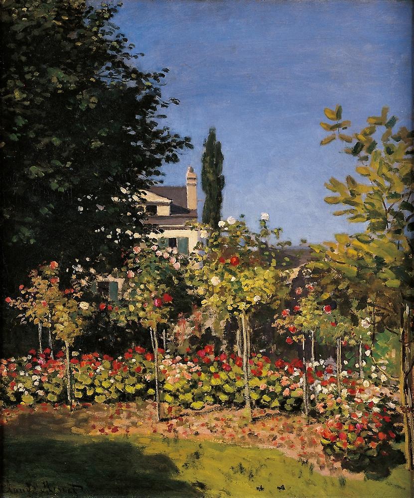 Garden In Sainte-Adresse Poster Print | Fruugo DK