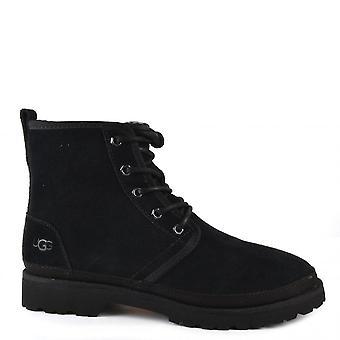 UGG Harkland Suede Boots Black Tnl