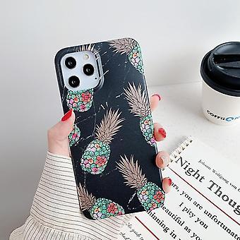 Svart skal med ananaser skal- iPhone 12 PRO MAX
