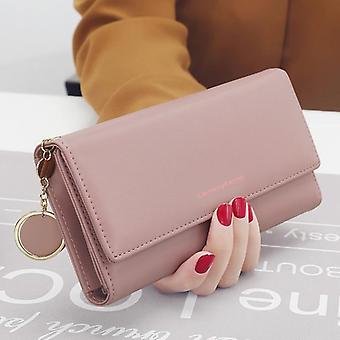 Letter Long, Tri-fold Purse And Leather Clutch, Card Holder Wallets