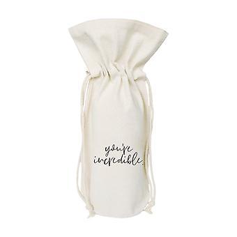 You're Incredible Cotton Canvas Wine Bag