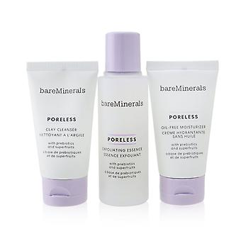 Poreless at any age starter kit: clay cleanser 30ml+ exfoliating essence 50ml+ oil free moisturizer 30ml 257043 3pcs