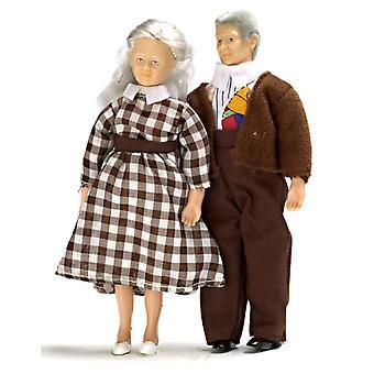 Dolls House Modern Grandma & Avós vovôs miniatura 1:12 Pessoas