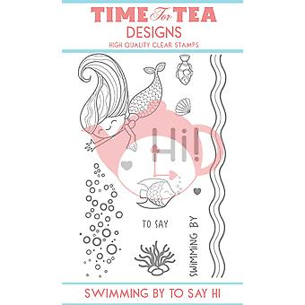 Time For Tea Swimming By To Say Hi Clear Stamps