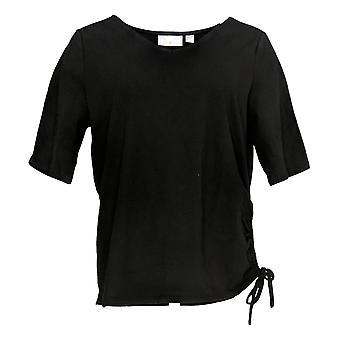 الحسناء من قبل كيم الحصى المرأة & ق أعلى الأكمام القصيرة V الرقبة السوداء A351544