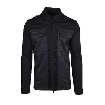 MA.STRUM Ma.strum Zip Through Overshirt Jet Black