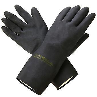 Natural Rubber Garden Gloves, Acid Alkali Resistant, Chemical Gauntlet