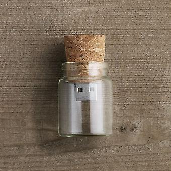 Message dans une clé USB de bouteille