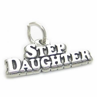 Step Daughter Sterling Silver Charm .925 X 1 Family Stepdaughter Charms - 4157