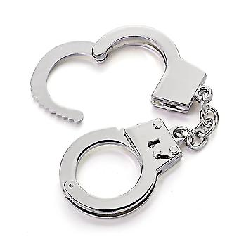 Mini Size Handcuffs Keychain Metal Creative Simulation Model For Car Ring