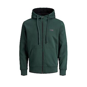 Jack & Jones Men's Camo Zip Hoodie Core