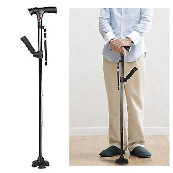 Collapsible Telescopic Folding  Elder Led Walking Trusty Sticks For The Elder