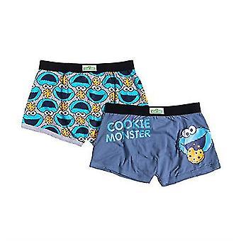 Men's 2pk Cookie Monster Sesame Street Boxer Shorts