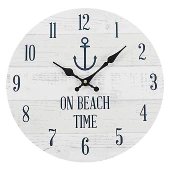 Something Different On Beach Time Wall Clock