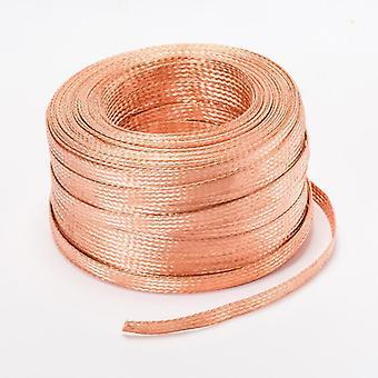 1m de correa de manga trenzada de cobre enlatado con alambre de conexión