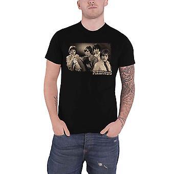 Pink Floyd T Shirt Sepia Cravats Band Logo nouveau Official Mens Black