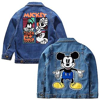 Copii Mickey Denim Jachete Coat Copii Imprimare Outerwear
