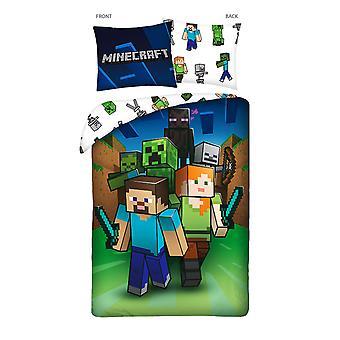 Minecraft Arrow Single Cotton Duvet Cover Set - European Size