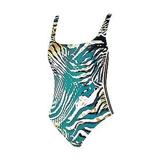 Sunflair Wild Ladies 22071-23 Women's Turquoise Animal Swimsuit