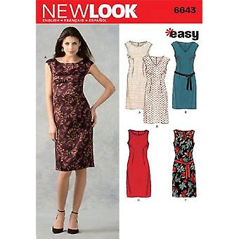 New Look Sewing Pattern 6643 Misses Dress Size 10-22 Euro 36-48