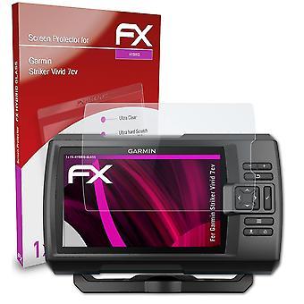 atFoliX Lasisuoja yhteensopiva Garmin Striker Vivid 7cv 9H Hybrid-Glass kanssa