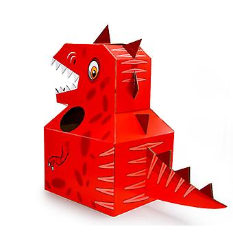 Children's Dinosaur Carton Box, wearable Carton Clothes Handmade Paper Toy