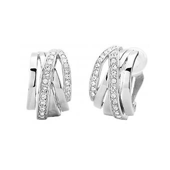 Traveller Clip Earring - Rhodium Plated - Swarovski Crystals - 157050 - 719