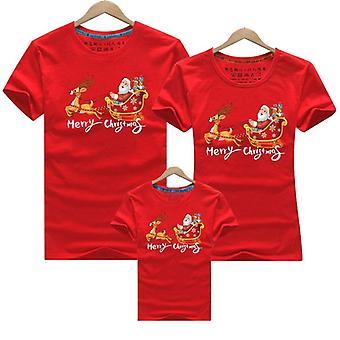 Abbigliamento abbinato famiglia natale, mamma baby t-shirt
