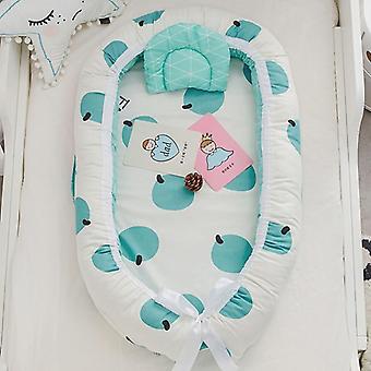 Lit portatif de voyage nouveau-né, nid de lit de bébé, pare-chocs de coton, bébé de panier