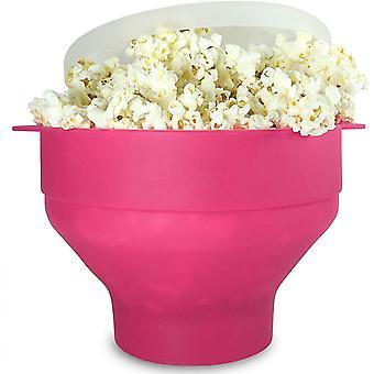Popcorn Bowl Silikone Folding Pink